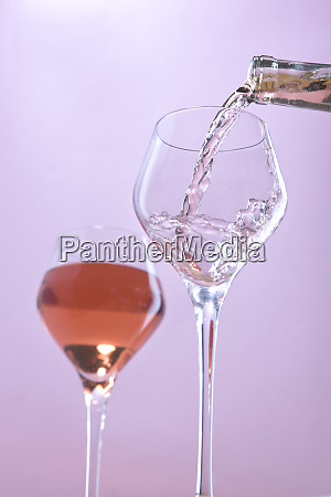 wine being poured in a studio