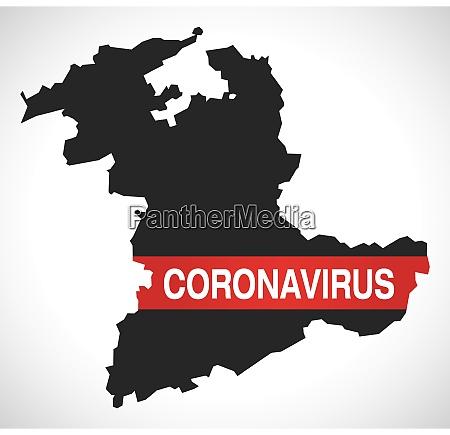 bern switzerland canton map with coronavirus