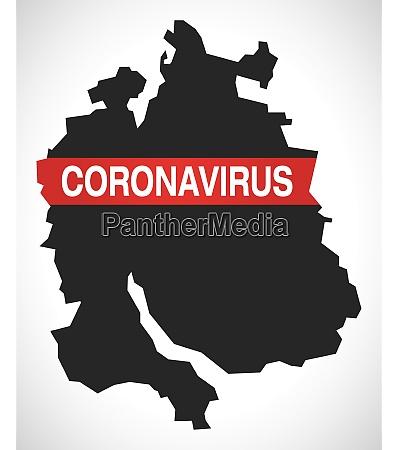zurich switzerland canton map with coronavirus