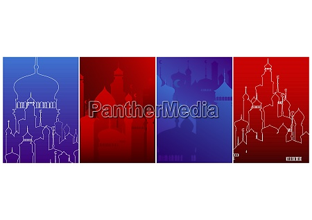 modern poster template set with arabian