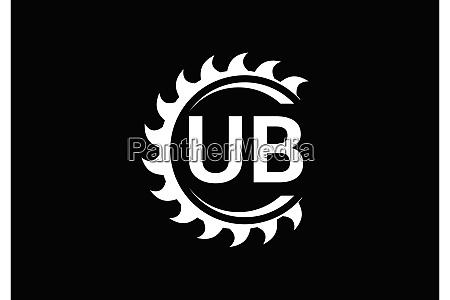 u b initial letter logo