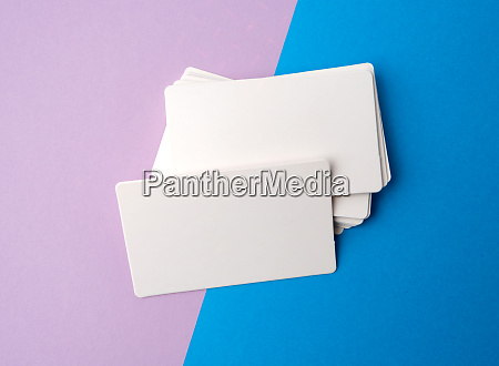 stack of rectangular white blank business