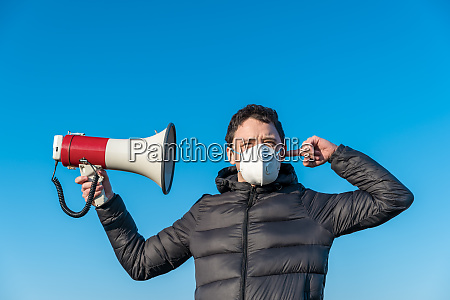 a megaphone as a symbol of