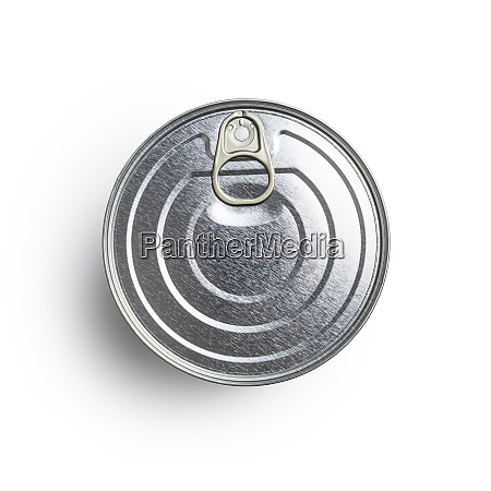 closed tin can with ring pull