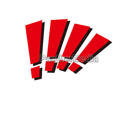 red exclamation sign advice illustration