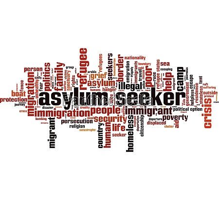 asylum seeker word cloud