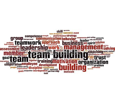 team building word cloud