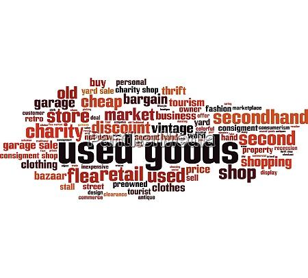 used goods word cloud