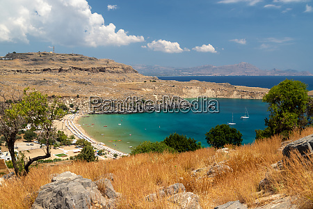 scenic view from the acropolis on