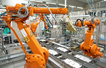robotization of modern industry in the