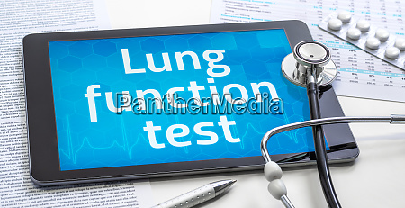 the word lung function test on