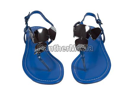 blue ladies sandals