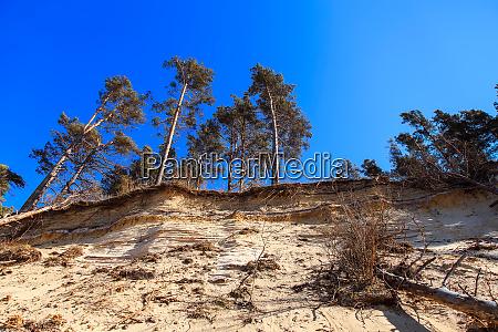 steep and sandy coast of baltic