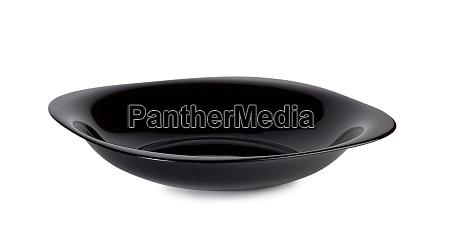 black flat glare plate