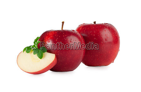 red apples with drops and a