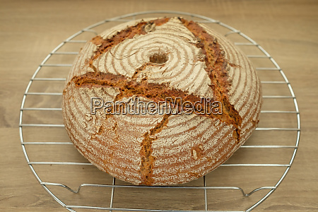bread with flour and crust