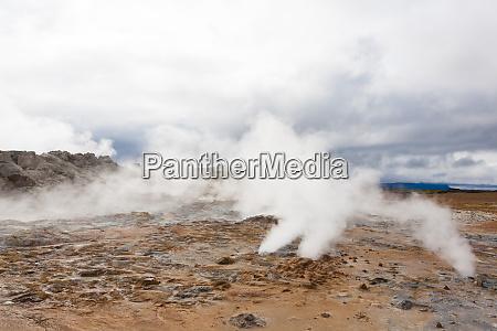 hverir mud pools day view iceland