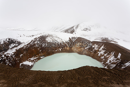 viti caldera at askja central iceland