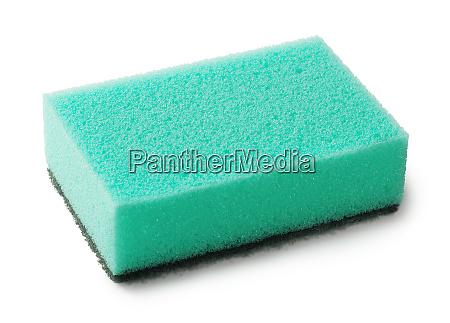 green kitchen sponge