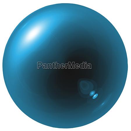glare blue ball