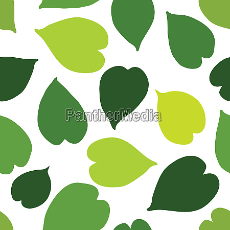 green tropical leaves seamless pattern vector