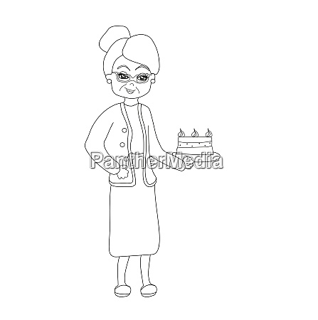 grandma baked a delicious cake
