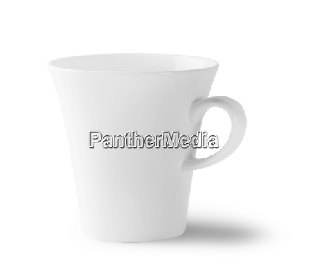 white empty cup