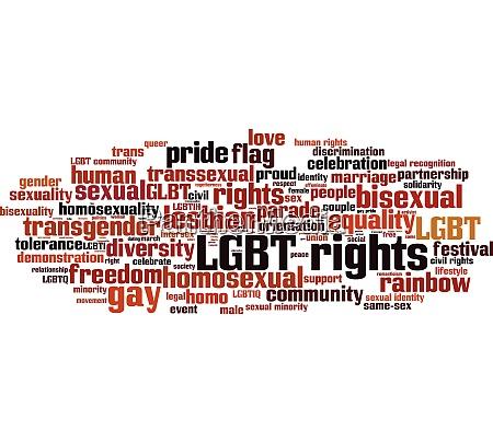 lgbt rights word cloud