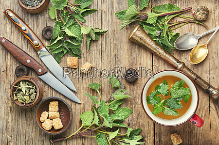 herbal tea with melissa