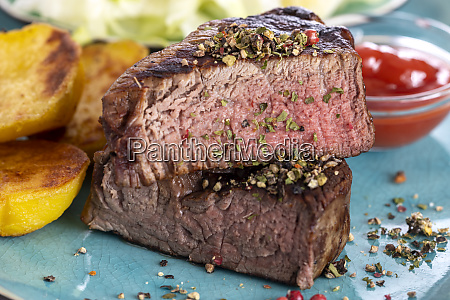 grilled steak on a plate