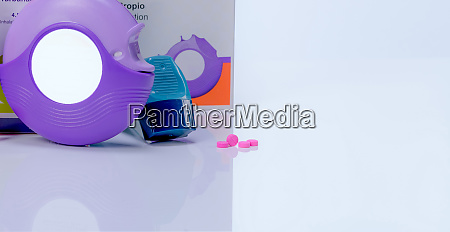 asthma accuhaler evohaler and pink tablets