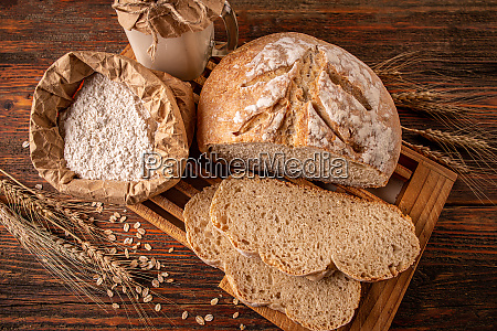 crusty fresh homemade sourdough bread