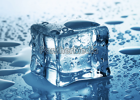 ice cube with drops