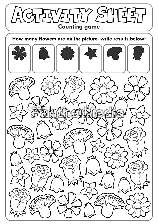 activity sheet counting game 2