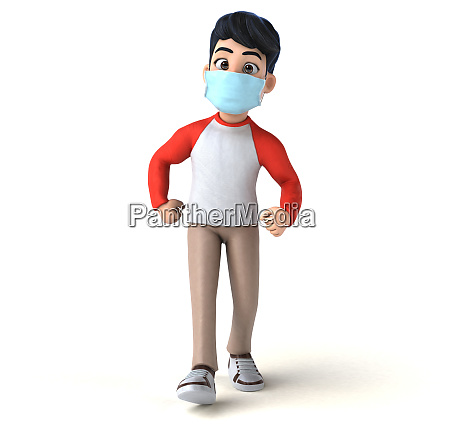 3d, illustration, of, a, teenager, with - 28277457