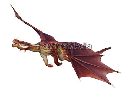 3d, rendering, fairy, tale, dragon, on - 28277296