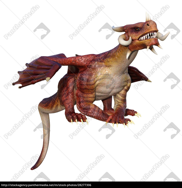 3d, rendering, fairy, tale, dragon, on - 28277306