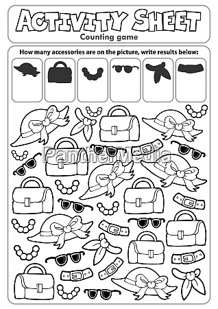 activity, sheet, counting, game, 4 - 28277498