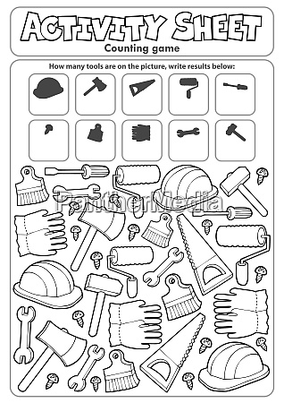 activity, sheet, counting, game, 9 - 28277604