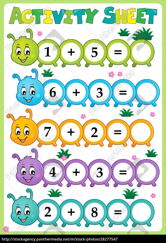 activity, sheet, math, theme, 1 - 28277547