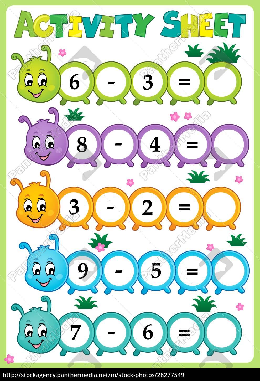 activity, sheet, math, theme, 2 - 28277549
