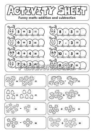 activity, sheet, math, theme, 5 - 28277555