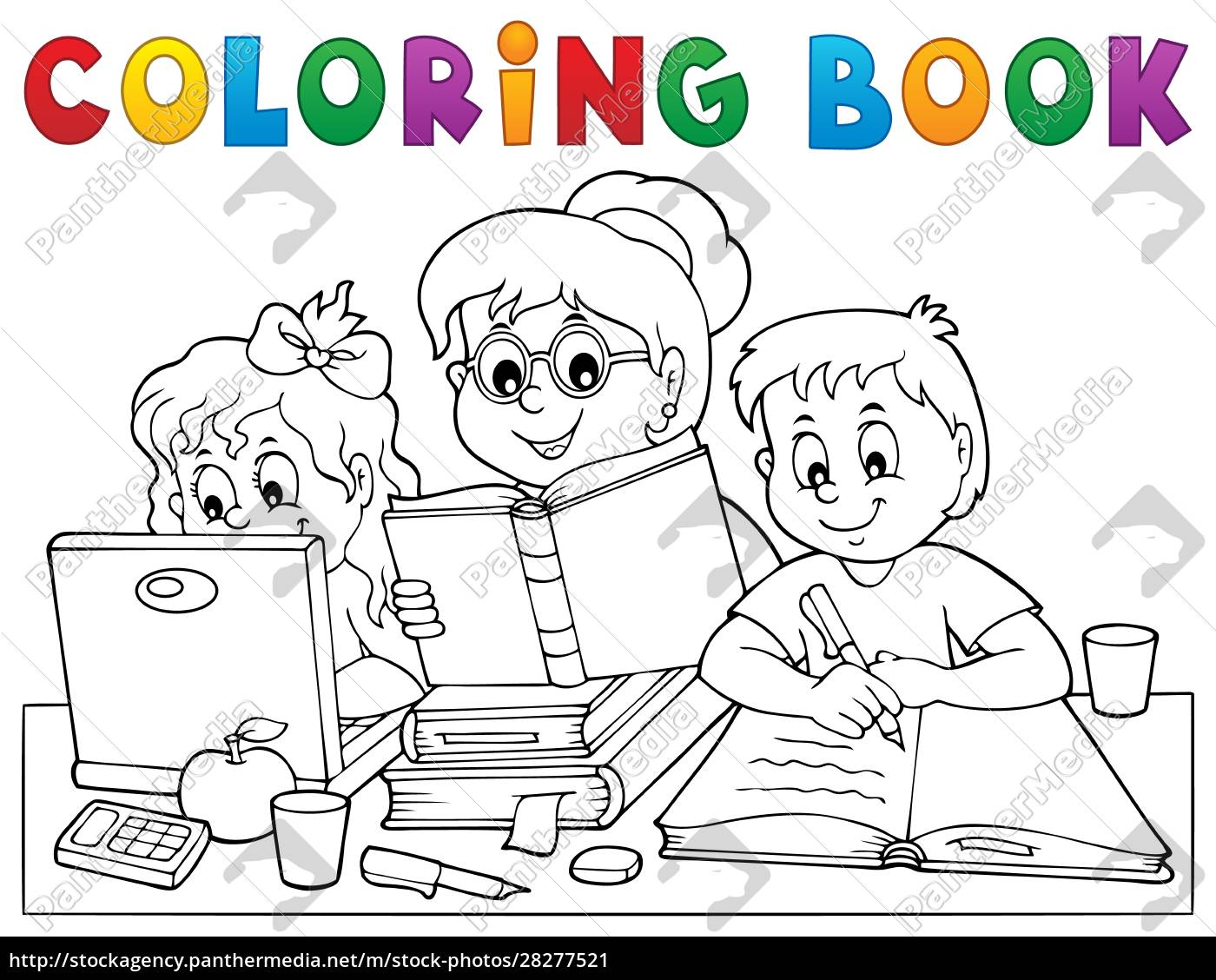 coloring, book, home, schooling, image, 1 - 28277521