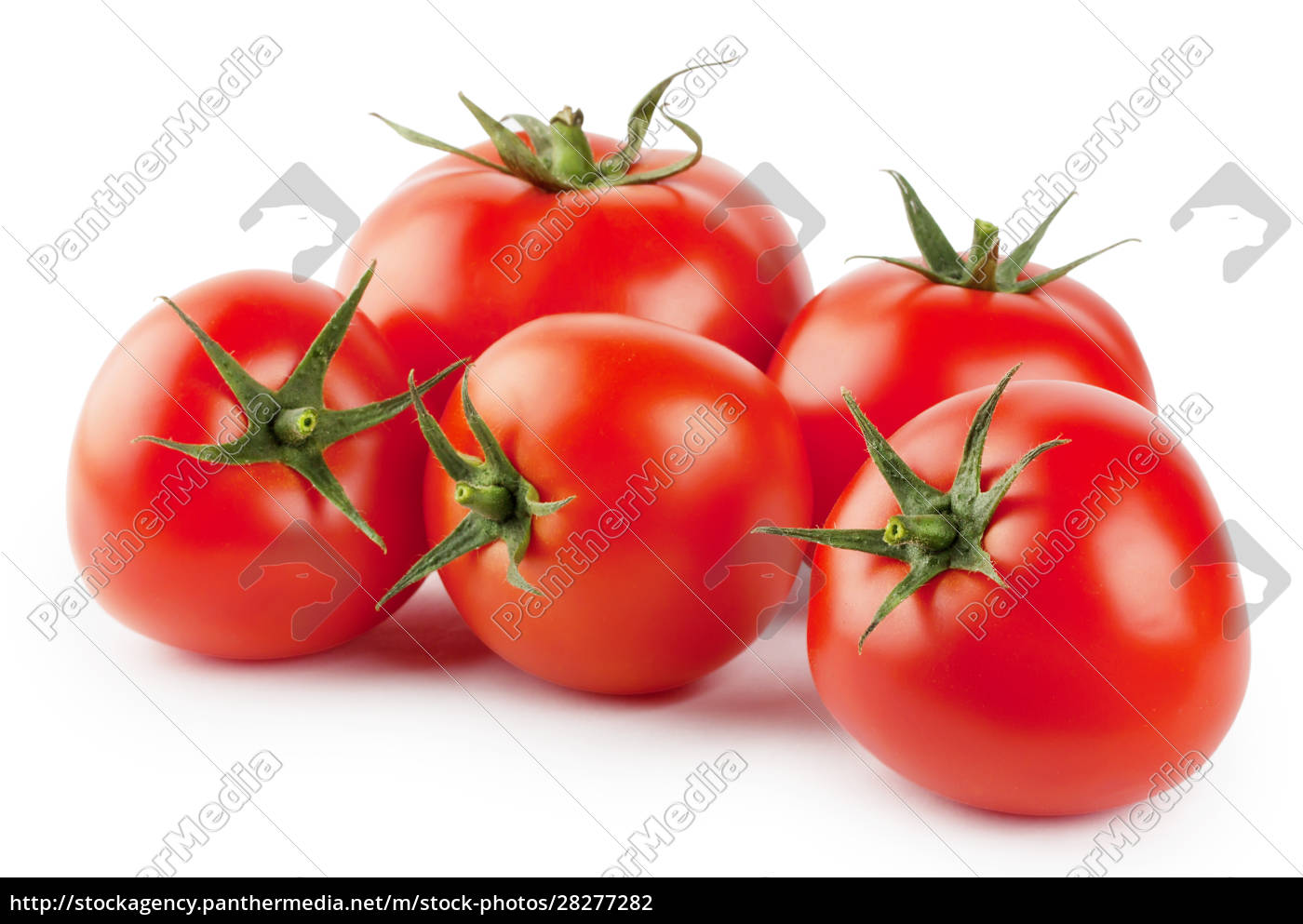 five, ripe, red, tomatoes - 28277282