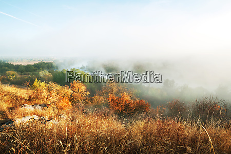 foggy, morning, on, the, mountain, river - 28277293