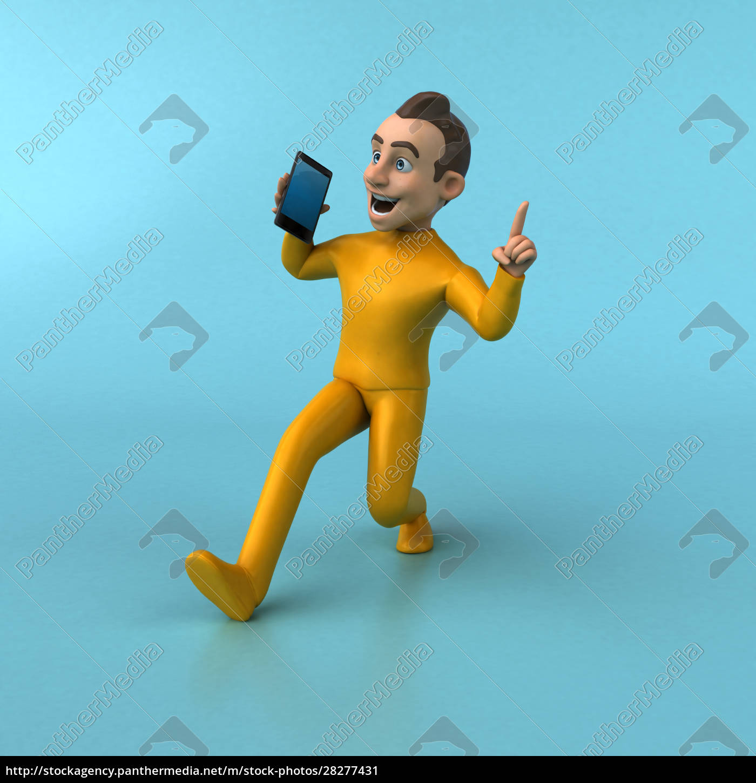 fun, 3d, cartoon, yellow, character - 28277431