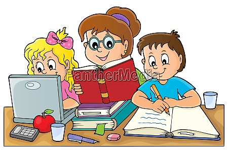 home, schooling, theme, image, 1 - 28277623