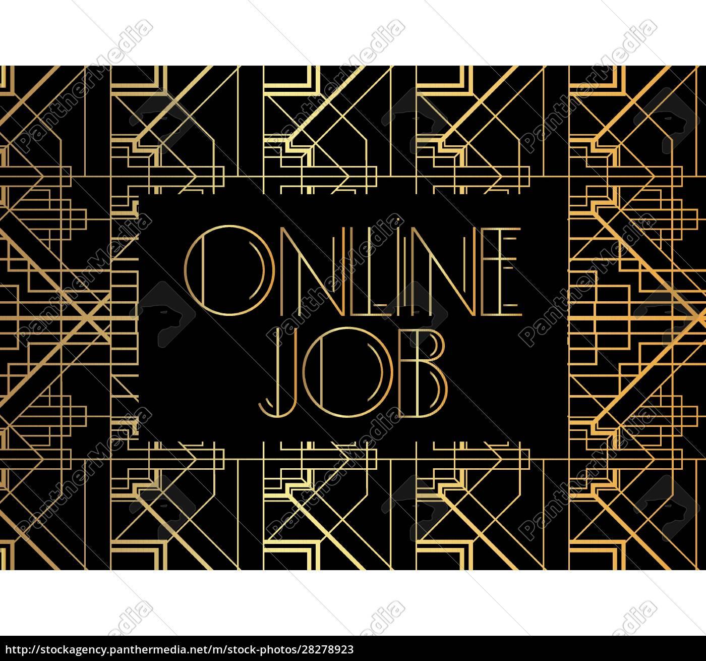 art, deco, online, job, text. - 28278923