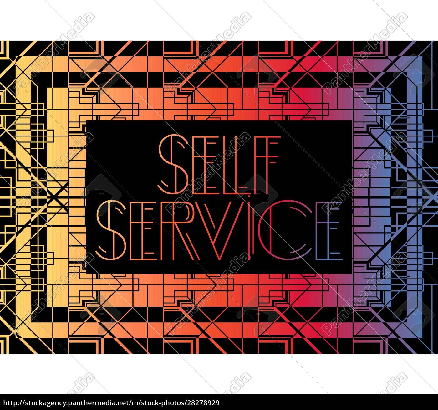 art, deco, self, service, text. - 28278929