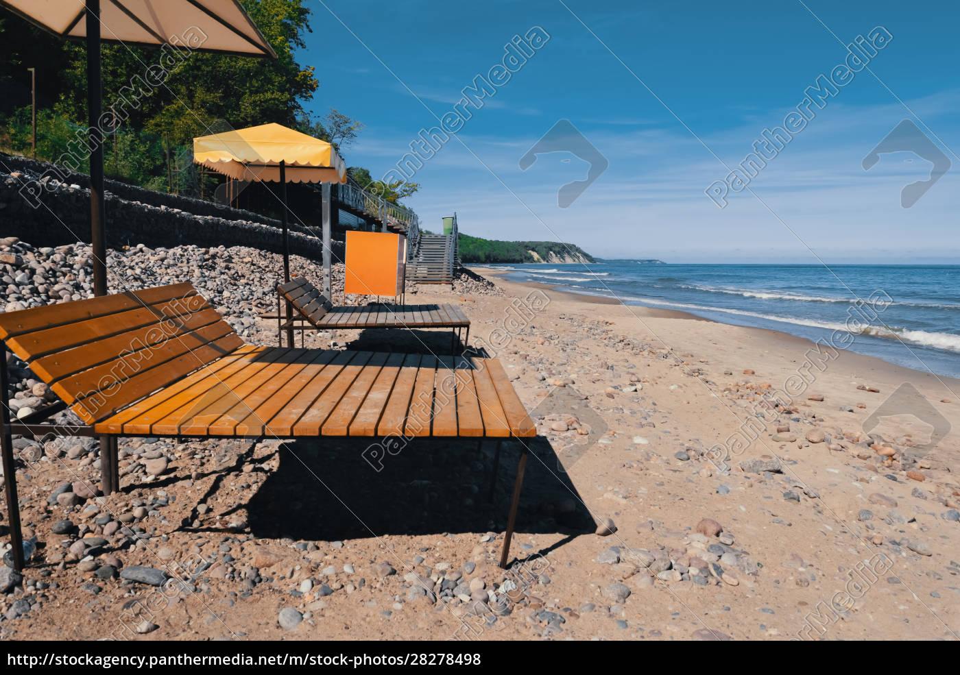 beach, sea, , sand, , sun, beds, on - 28278498